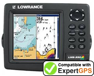 Download your Lowrance LMS-332C waypoints and tracklogs and create maps with ExpertGPS