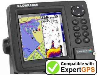 Download your Lowrance LMS-334C iGPS waypoints and tracklogs and create maps with ExpertGPS