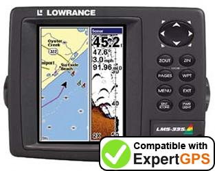 Download your Lowrance LMS-335CDF waypoints and tracklogs and create maps with ExpertGPS