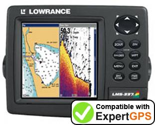 Download your Lowrance LMS-337CDF waypoints and tracklogs and create maps with ExpertGPS