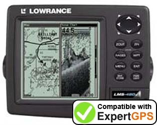 Download your Lowrance LMS-480M waypoints and tracklogs and create maps with ExpertGPS