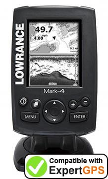 Download your Lowrance Mark-4 waypoints and tracklogs and create maps with ExpertGPS