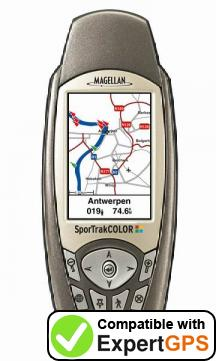 Download your Magellan SporTrak Color waypoints and tracklogs and create maps with ExpertGPS