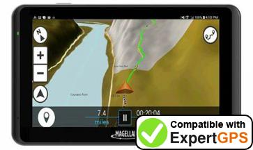 Download your Magellan TR5 waypoints and tracklogs and create maps with ExpertGPS