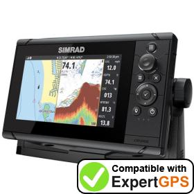 Download your Simrad Cruise 7 waypoints and tracklogs and create maps with ExpertGPS