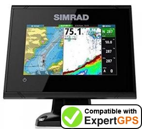 Download your Simrad GO5 XSE waypoints and tracklogs and create maps with ExpertGPS
