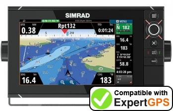 Download your Simrad NSS9 evo2 waypoints and tracklogs and create maps with ExpertGPS