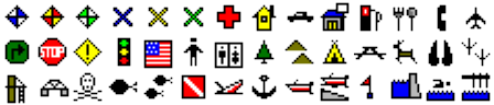 ExpertGPS waypoint symbols for Eagle SeaCharter 642 DF iGPS
