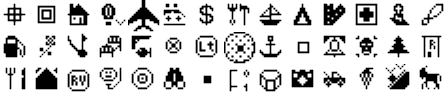ExpertGPS map symbols for Magellan eXplorist 600