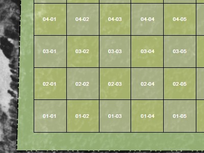 Fishnet Grid of 1 acre squares in ExpertGPS Pro mapping software