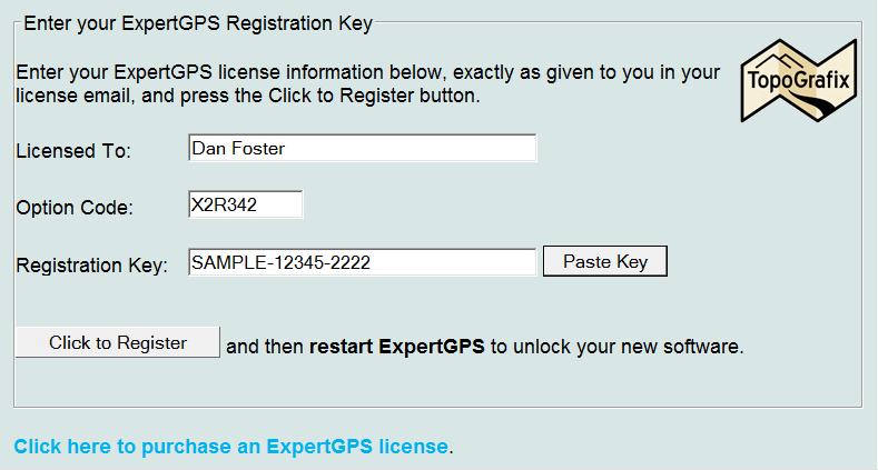 Enter Registration Code Command