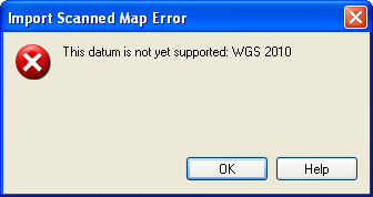Import Scanned Map Error: Invalid Datum