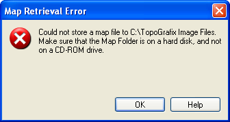 Map Retrieval Error: Could not write to the Map Folder
