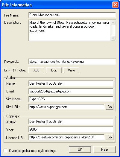 File Information Dialog