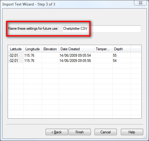 Save your CSV settings for future use