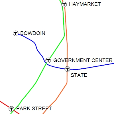 MBTA subway map created in ExpertGPS using a custom waypoint / placemark symbol