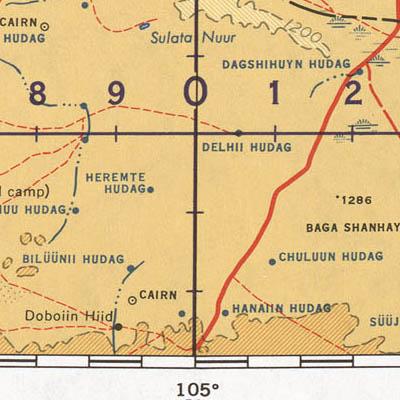 Topo Map of Mongolia using Lambert Conformal projection