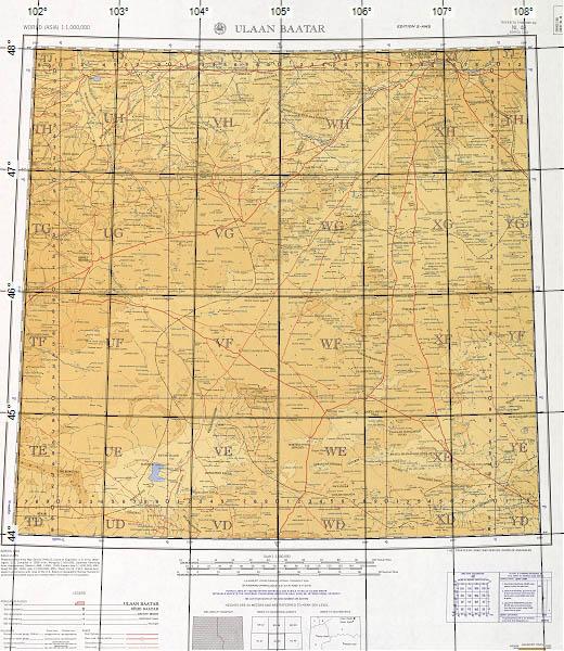 Correctly-calibrated map of Mongolia