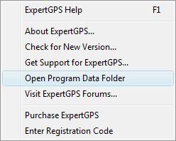 Open Program Data Folder