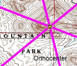 Finding the orthocenter - geocaching puzzle cache geometry