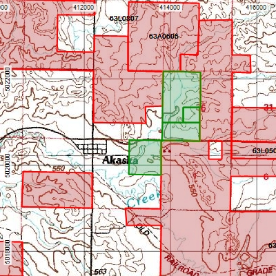 Map of South Dakota Walk-in Hunting and Public Hunting areas in ExpertGPS Pro